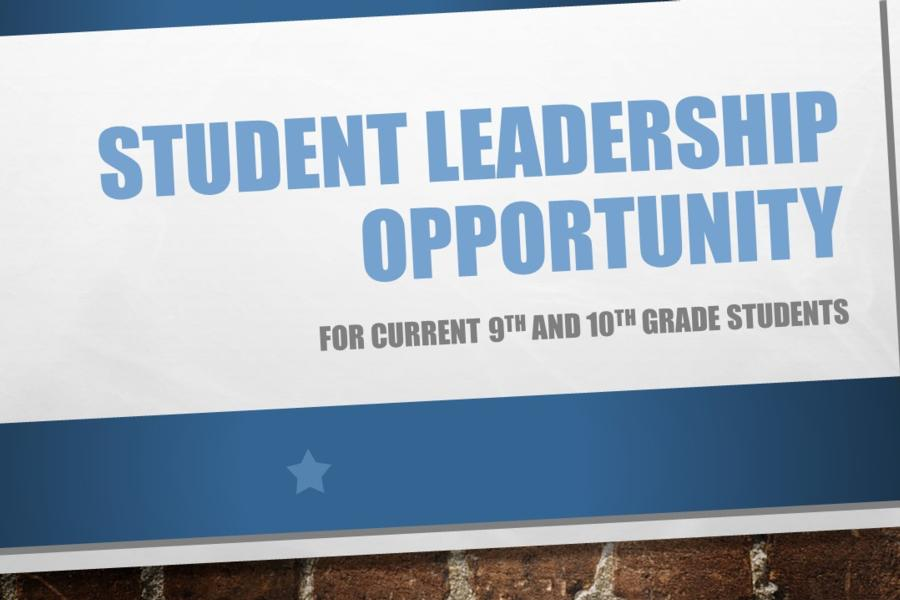 Student Leadership Opportunity