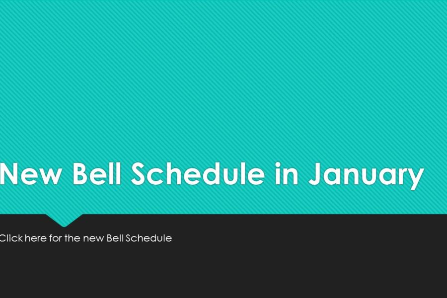New Bell Schedule for 2017-2018